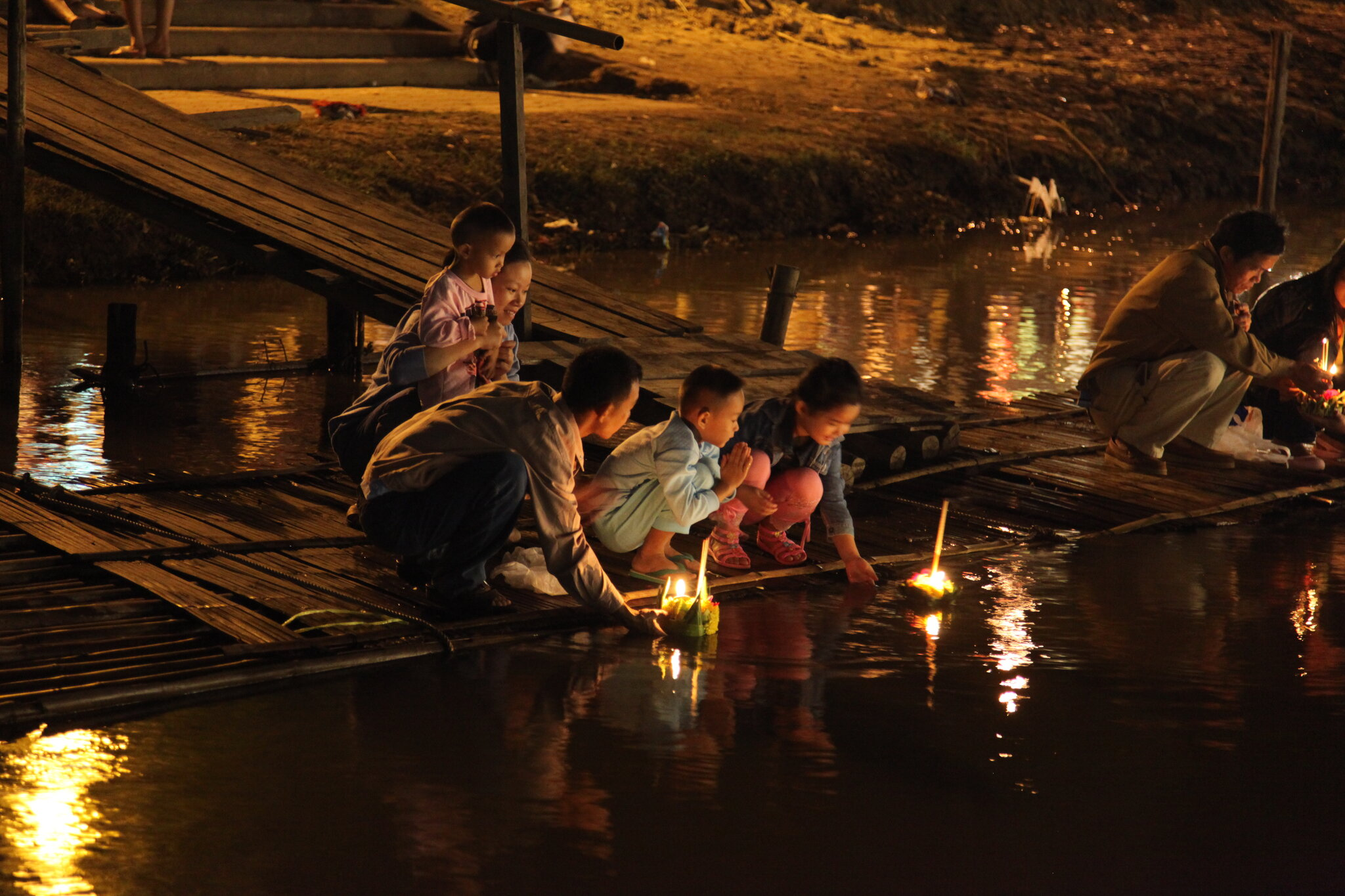 Thai Family Celebrating Loy Krathong.jpg