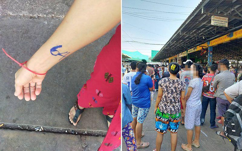 Covid in Thailand: Menschen werden mit farbigen Kabelbinder gekennzeichnet