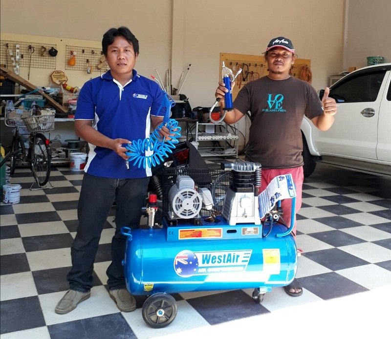 Buriram air compressor WestAir Mitsubishi home delivery.jpg